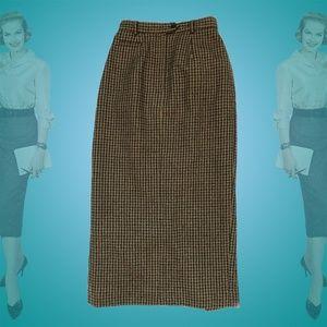 Vintage Ralph Lauren Wool Pencil Skirt